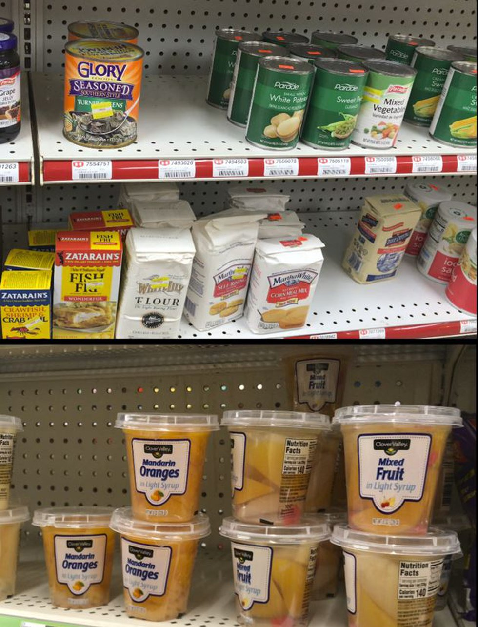 Many rural stores carry only canned or otherwise shelf-stable produce. Some stock frozen...