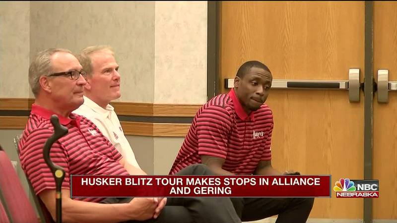 The Big Red Blitz makes stops in Gering, Alliance, and Chadron promoting Nebraska athletics.
