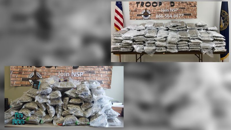 Troopers with the Nebraska State Patrol located more than 230 pounds of marijuana and other...