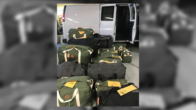 A search of the vehicle revealed 770 pounds of marijuana, concealed in the cargo area of the van.