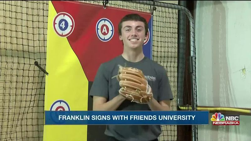 Franklin signs to become a student athlete and play baseball.