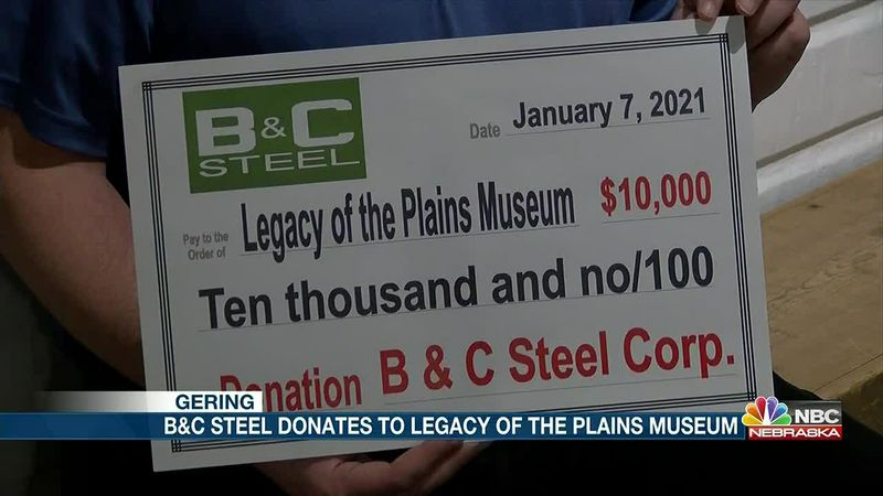 B&C Steel donates $10,000 to Legacy of the Plains Museum.
