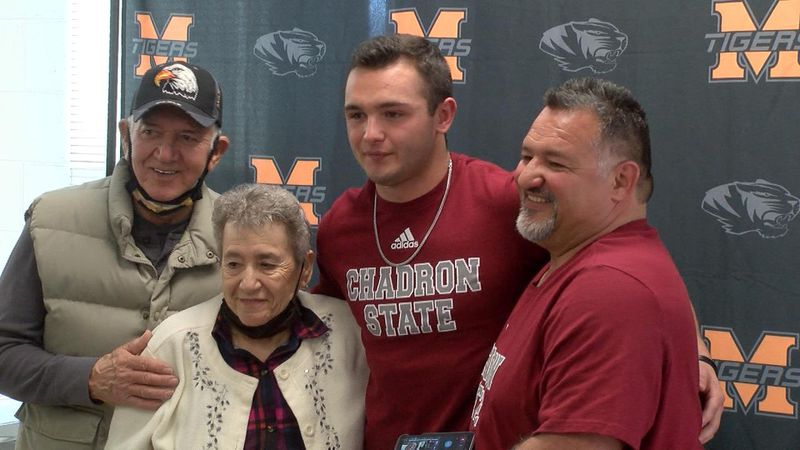 Mitchell senior signs to become a student athlete at Chadron State.