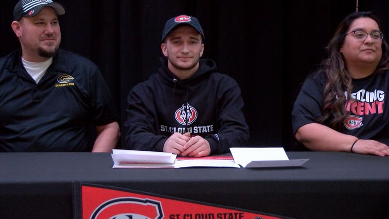 Gering student athlete Nate Rocheleau signs to wrestle at St Cloud State University in Minnesota.