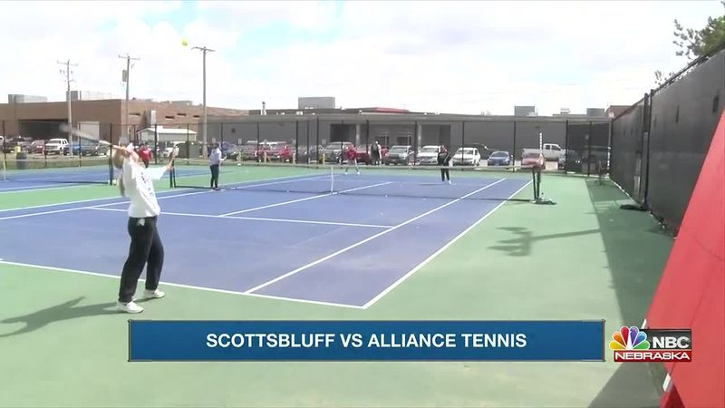 Scottsbluff beats Alliance 6-3 in girls high school tennis.