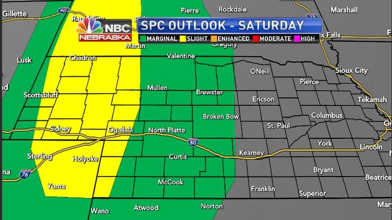 Storm Prediction Center Saturday Forecast for the region