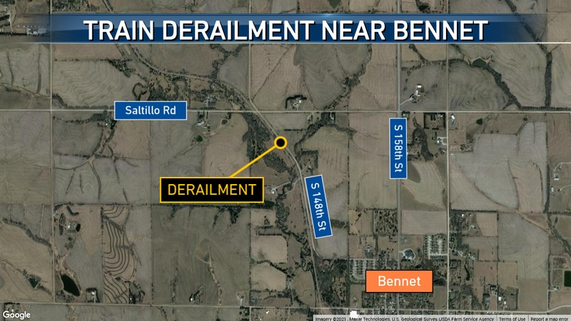 A spokesperson for BNSF Railway says weather played a role in a train derailment near Bennet on...