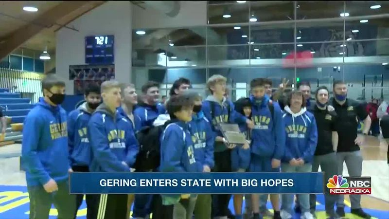 B-4 District Champion Gering wrestling team will open state competition on Friday in Omaha.