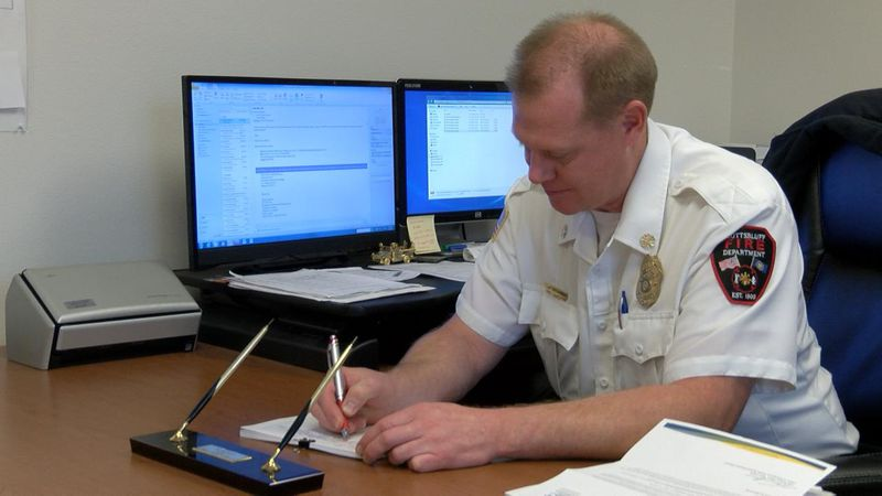 Scottsbluff Fire Department give annual report.