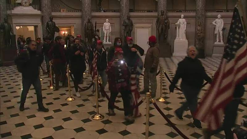 Pro-Trump protesters stormed the U.S. Capitol as lawmakers were gathered to count electoral...