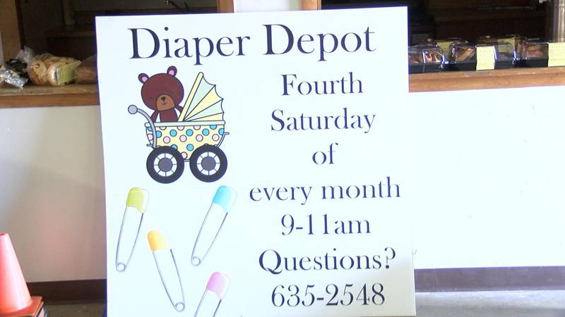 The annual diaper depot is happening this Saturday at the First Baptist Church here in...