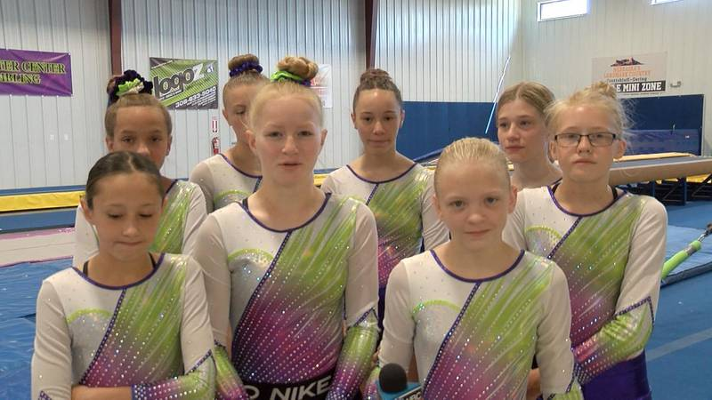 Nine members of the Carpenter Center Tumbling Program to participate in national competition...