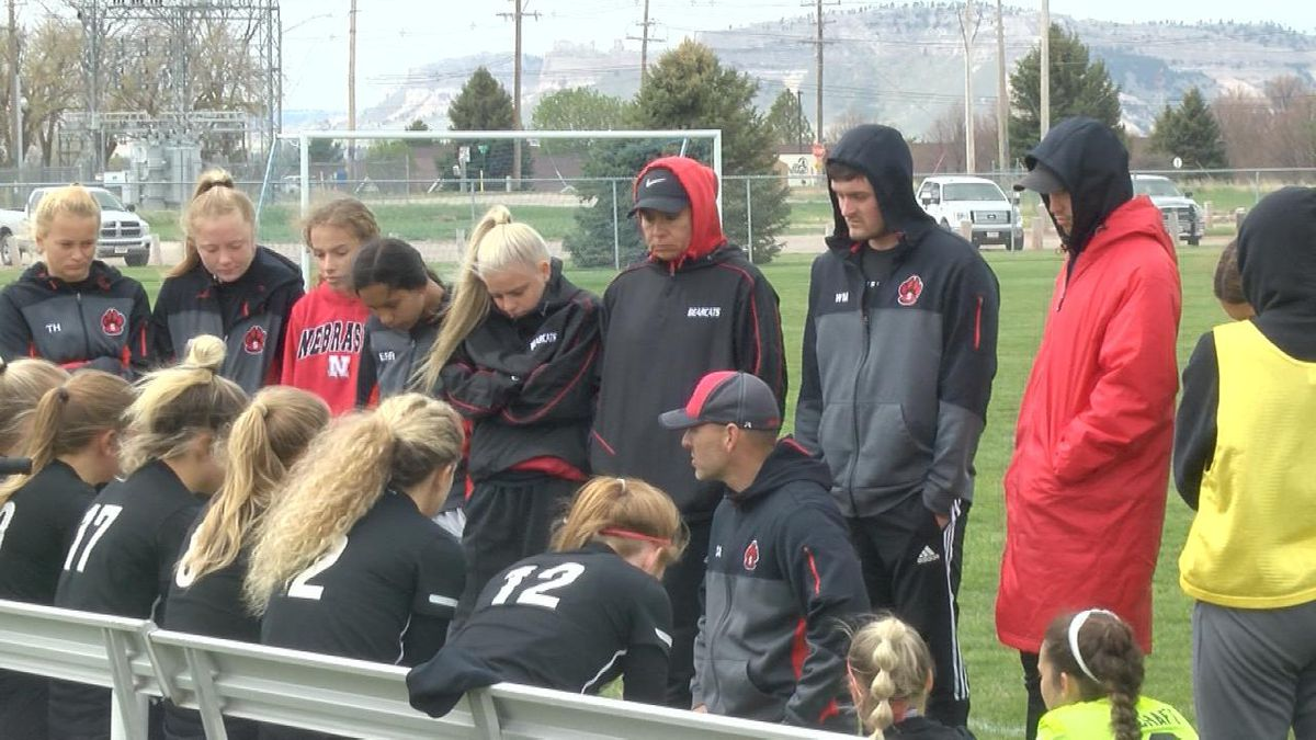 Scottsbluff boys fall 4-1 to Bennington.  Scottsbluff girls falling 11-1 to Omaha Roncalli...