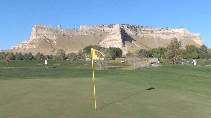 Scottsbluff leads after day one of state golf in Gering.