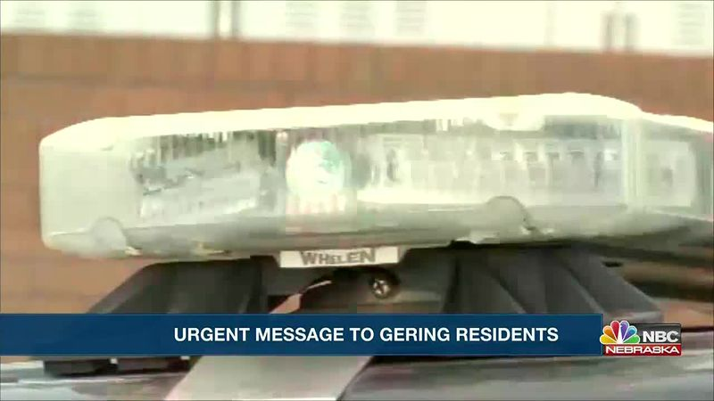 Urgent message for Gering residents.