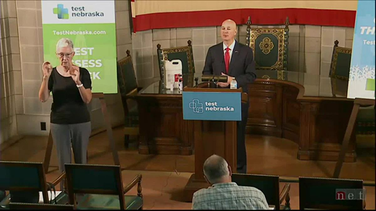 Gov. Pete Ricketts gave an update Monday, Sept. 14, 2020, on Nebraska's COVID-19 response and talks about the state's participation in the Hidden Heroes campaign.