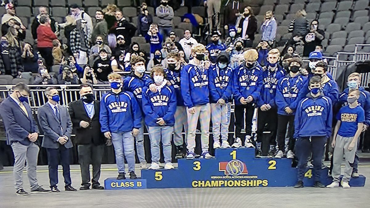 Gering wrestling team claims state title in Class B.