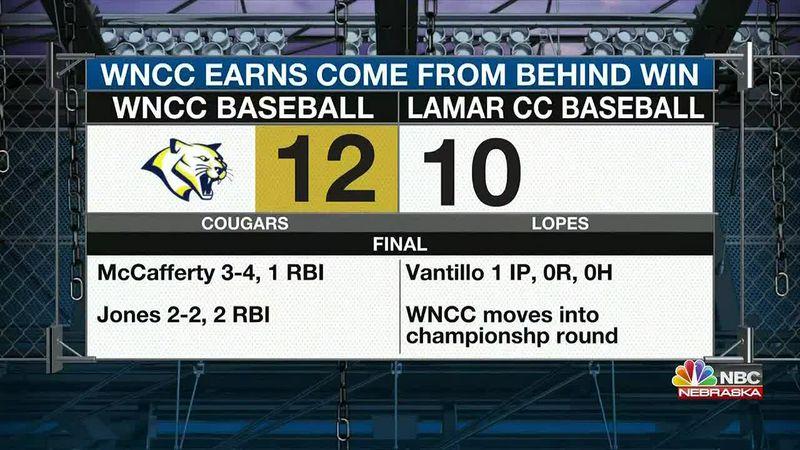 WNCC earns 12-10 win over Lamar in Region IX Tournament.