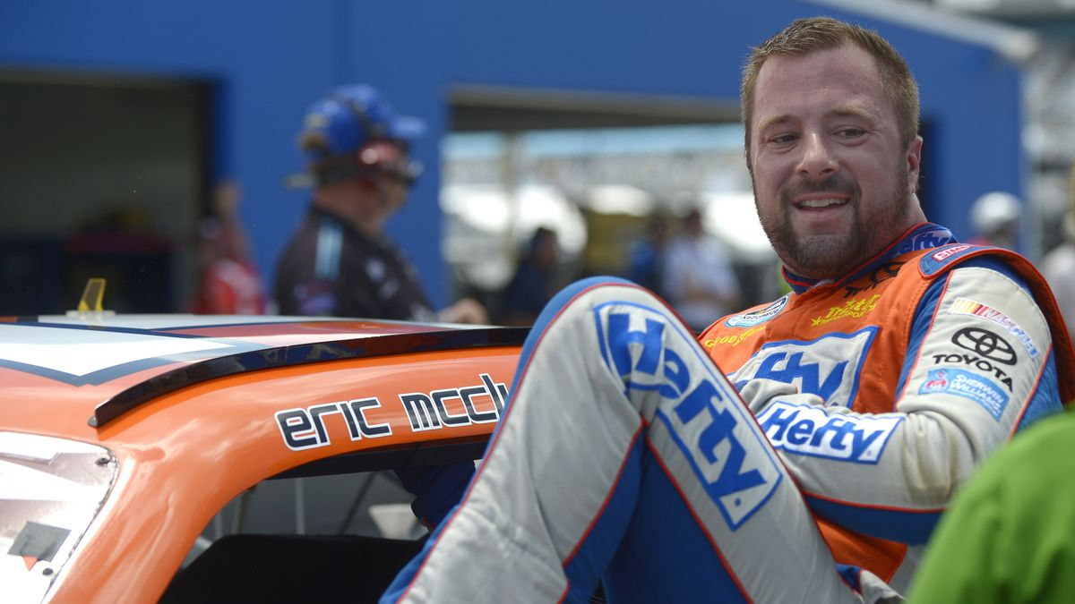 FILE - In this July 5, 2013 file photo, Eric McClure gets out of his car after finishing his...