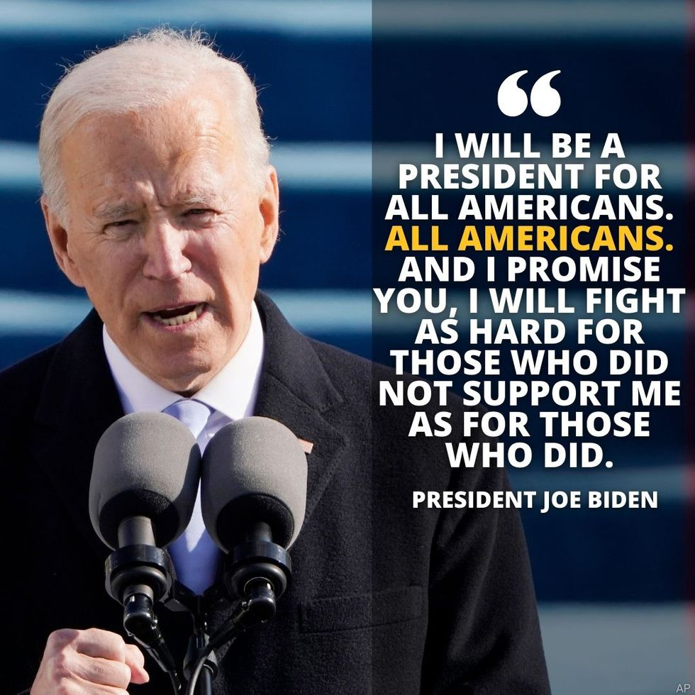 President Joe Biden delivered his inauguration address Wednesday morning after he was sworn in...