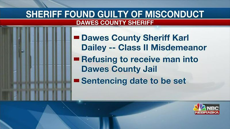 Dawes County Sheriff found guilty of official misconduct.