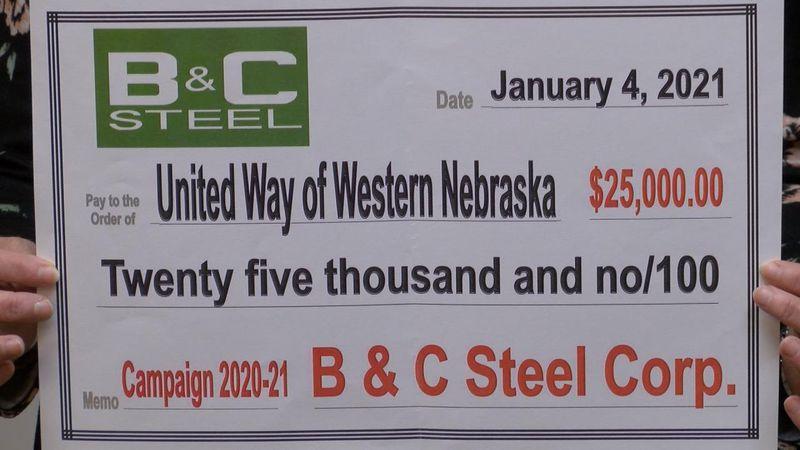 B&C Steel donates $25,000 to United Way of Western Nebraska