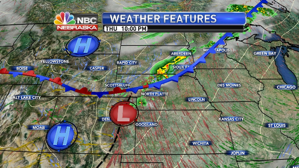 That process involves thunderstorms...some of which will be could be strong along I-80 and...