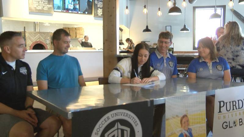 Gering graduate Aspen Shields signing to be a part of the Soccer Universities Program and will...