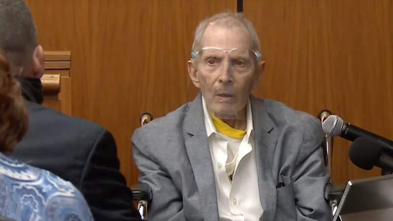 In this still image taken from Law & Crime Network court video, real estate heir Robert Durst...
