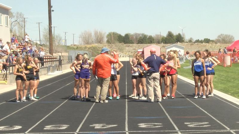 Local track and field athletes compete in Bayard on Friday.
