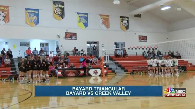 Mitchell earns wins over Bayard and Creek Valley to earn triangular win on Monday.
