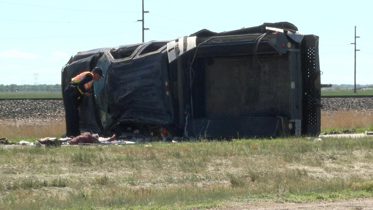 Two people were killed Thursday afternoon in a rollover crash in Scotts Bluff County.