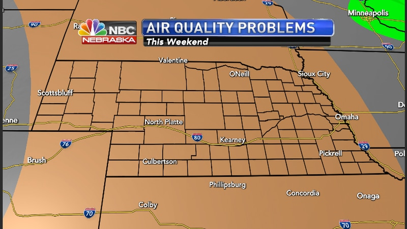 Air Quality Problems this weekend for the Greater Nebraska Area