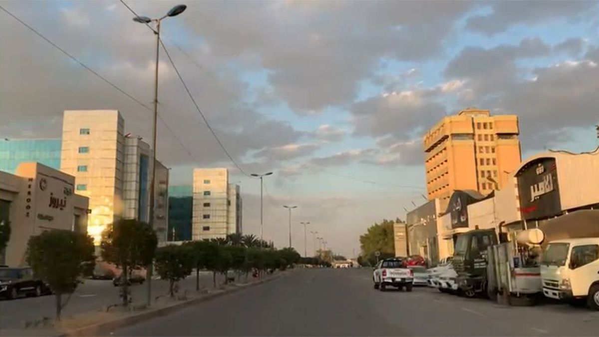 Pictured is a street in Baghdad. Two Iraqi security officials said three rockets struck the...