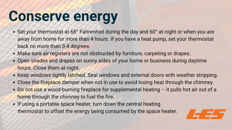 Ways you can conserve energy