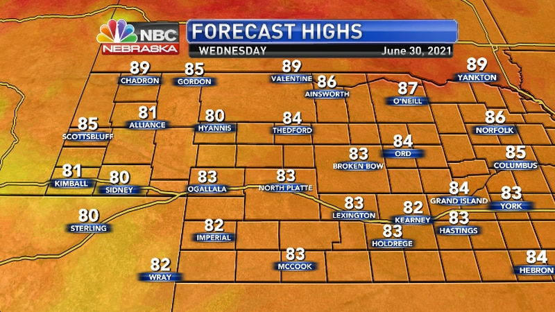 Average highs for this time of year is 88.