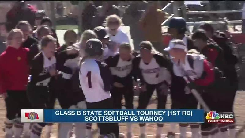 Scottsbluff falls to Wahoo 13-5 in first round state tournament play in Hastings.