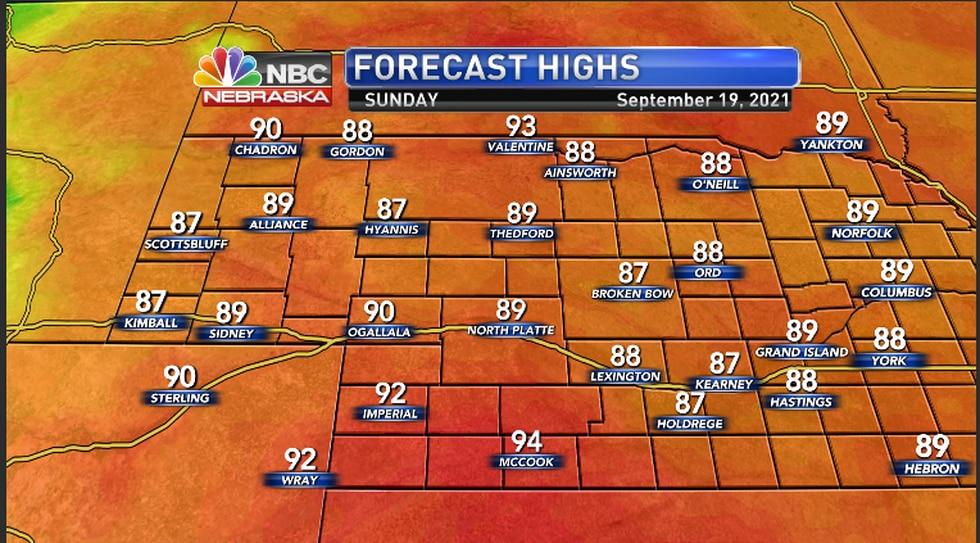 Warm temperatures to continue Sunday