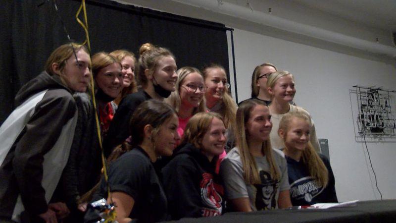Scottsbluff High School student athlete Avery Fox signs to play softball at Northeastern Junior...