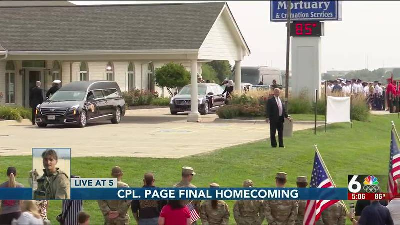Cpl. Page final homecoming arrival - 5 pm