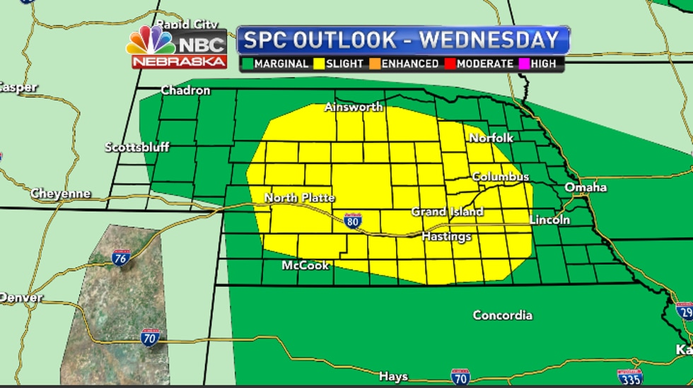 With the heat and instability if scattered storms from as forecast, they could be strong enough...