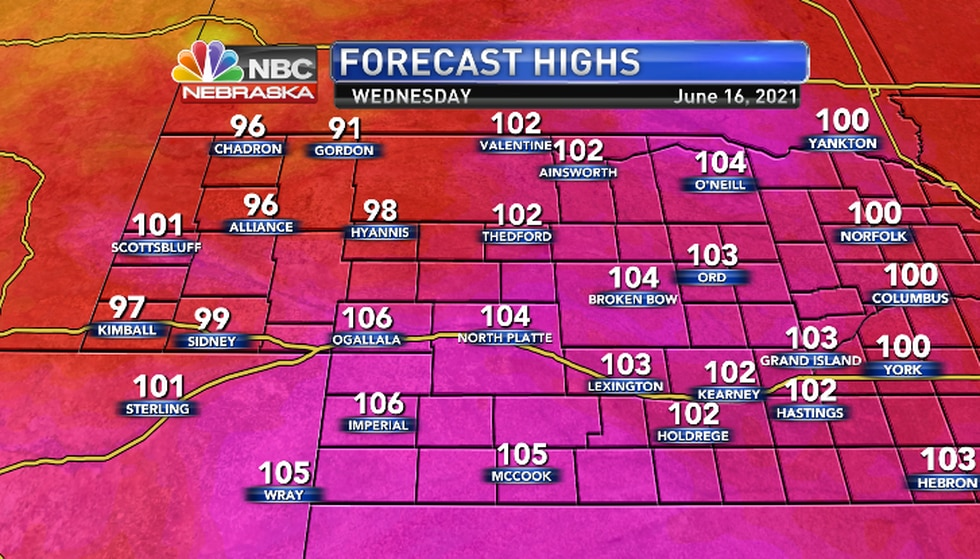 The record high for North Platte is 100 (1946).