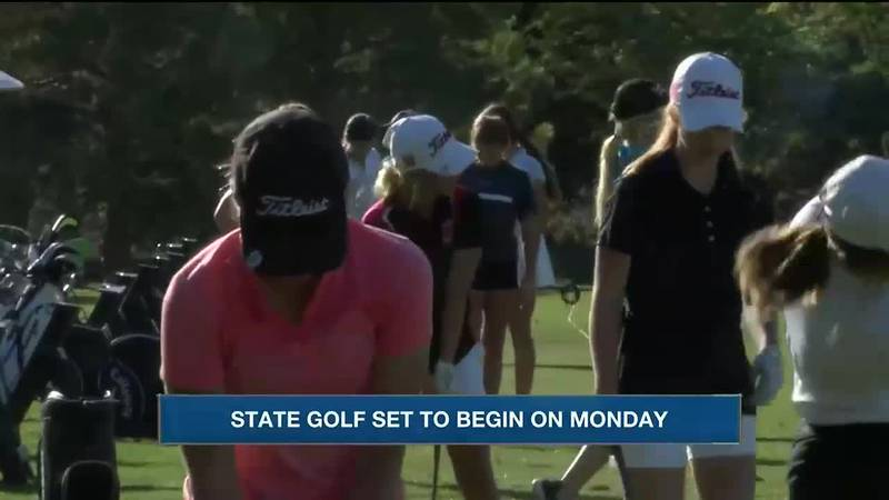 Golfers from Scottsbluff, Gering, Mitchell, Creek Valley, Kimball, Alliance, Chadron, and...