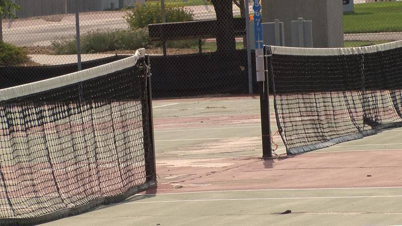 The Gering School Board approves $200,000 dollars to the Gering High School Tennis Court Project.