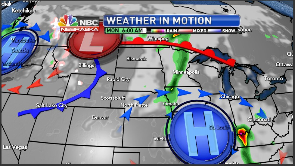 A pattern change is coming to the region with a cold front coming through the area