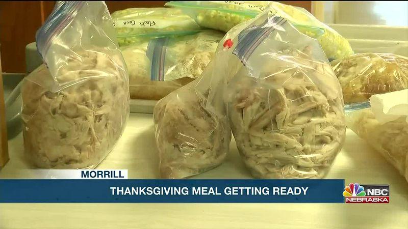 Morrill Farmers Market preps it's 10th Annual Thanksgiving Dinner.